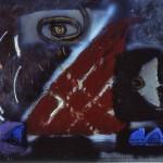 003 ' Desert Night'1993-1994 175 cm x 212 cm Acrylic, Mixed Media on canvas
