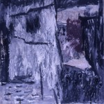 006 ' From a hut' 1986  208 cm x 200cm Acrylic on Paper